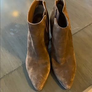 Brown size 11 suede booties